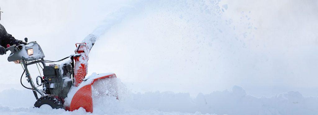Schneefräse mit Led