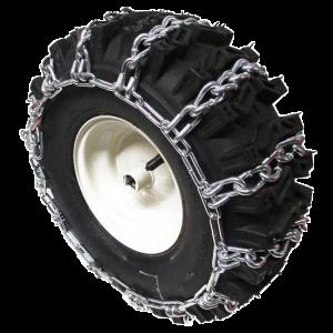 Schneeketten für Schneefräse mit pneumatischen Rädern